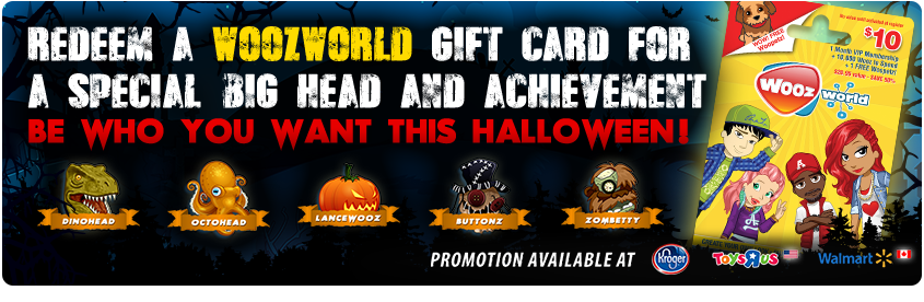 Woozworld Halloween Gift Card Promotion