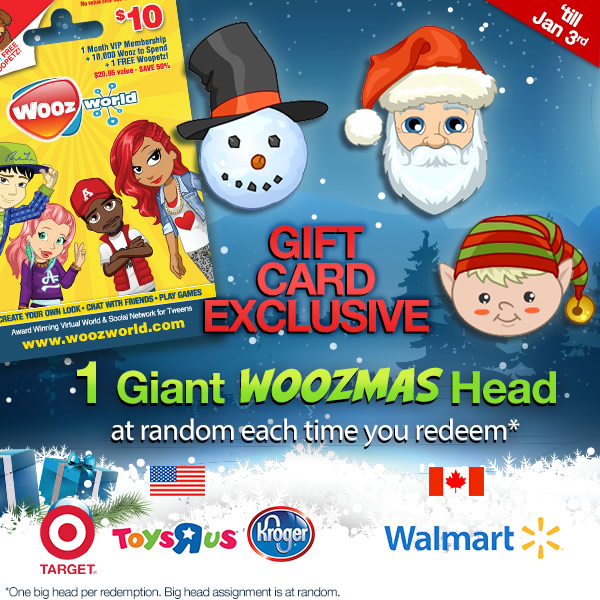 Woozworld Gift Card FESTIVE Update! | Woozworld News